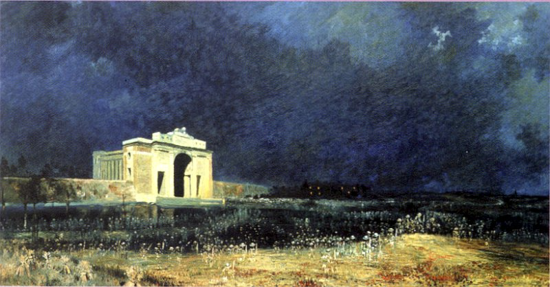 Painting: Menin Gate at Midnight (Will Longstaff)