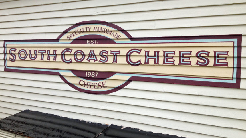 South Coast cheese sign